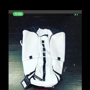 Nike Bags - NWT NIKE ELITE BACKPACK WHITE AND BLACK TRIM